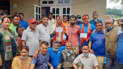 नेपाली कांग्रेस नुवाकोटको लिखु गाउपालिकाको शभापतीमा बिनोद पाठक र पञ्चकन्यामा…