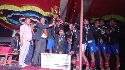 नुवाकोट जिल्ला अन्तरपालिका स्तरीय दोश्रो पञ्चकन्या चेयरमेन कप भलिवल प्रतियोगिताको उपाधि दुप्चेश्वर गाउँपालिका लाई