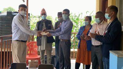 ग्लोबल आईएमई लघुवित्त चौघडा शाखाको सहयोग लिखु गाउँपालिका लाई