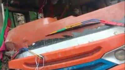 किस्पाङ गाउपालिका मनकामना कार्की गाउँमा बस दुर्घटना